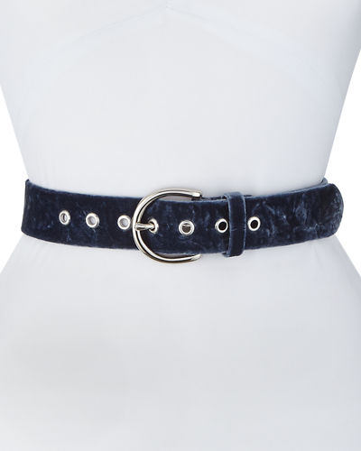 Sienna Wide Velvet Belt