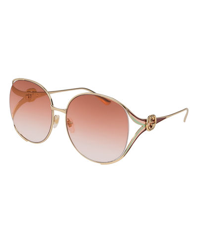 Oval Web GG Sunglasses