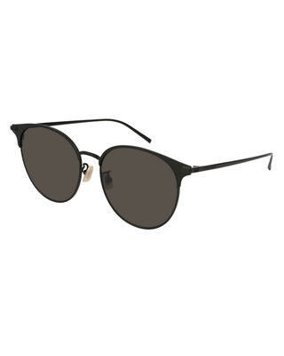 Saint Laurent Unisex Round Mirrored Metal Sunglasses