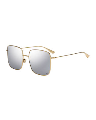 DiorStellaire Square Metal Sunglasses