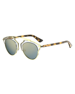 DIOR SO REAL ACETATE SUNGLASSES, BROWN PATTERN
