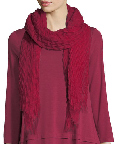 Eileen Fisher Pleated Wool/Silk Scarf and Matching Items