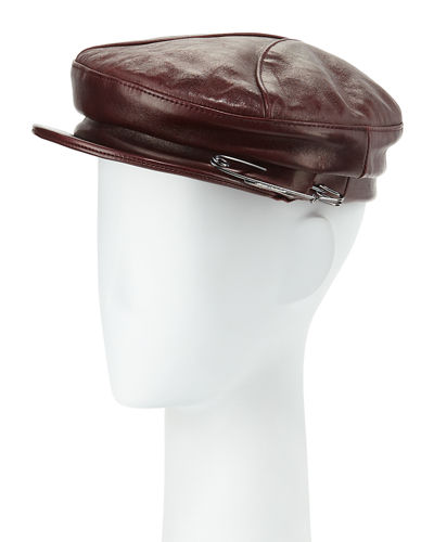 Gigi Burris Georgie Leather Hat