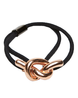 Colette Malouf Metal Knot Ponytail Holder