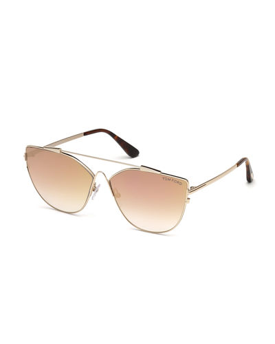 Jacquelyn Metal Aviator Sunglasses