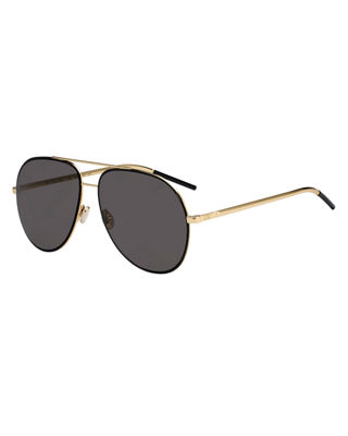 Astrals 59Mm Aviator Sunglasses - Blue Ruthenium, Black