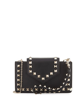 Image 1 of 4: Rockstud Leather Flap Phone Case