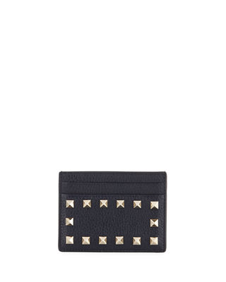 Rockstud Leather Card Case
