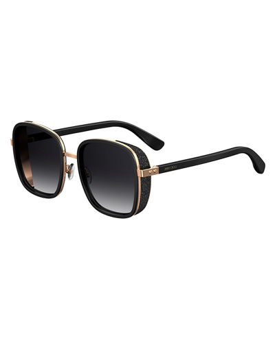Jimmy Choo Elvas Mirrored Square Sunglasses