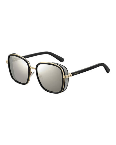 aff15d969c6 Quick Look. Jimmy Choo · Elvas Mirrored Square Sunglasses. Available in  Black