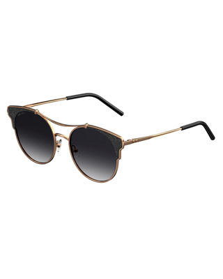 Jimmy Choo Lues Round Metal Sunglasses