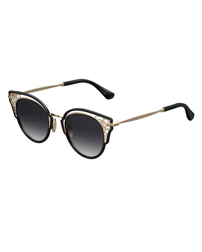 Dhelias Filigree Stainless Steel Round Sunglasses
