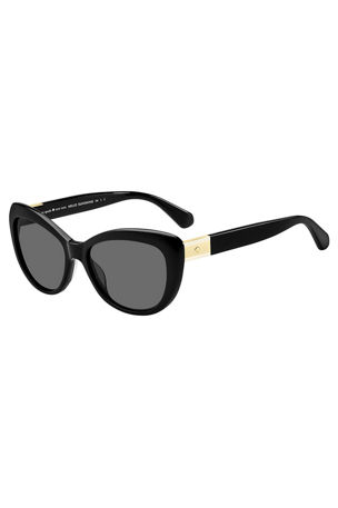 kate spade new york emmalynn cat-eye polarized sunglasses