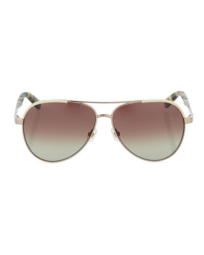 amarissa metal gradient aviator sunglasses