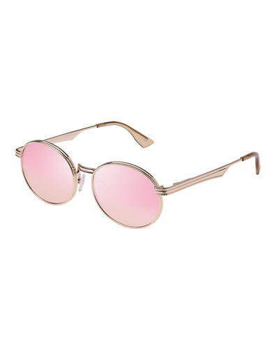 Semi-Rimless Round Sunglasses