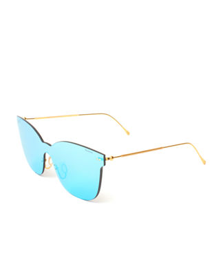 Illesteva Piazza Mask Mirrored Sunglasses