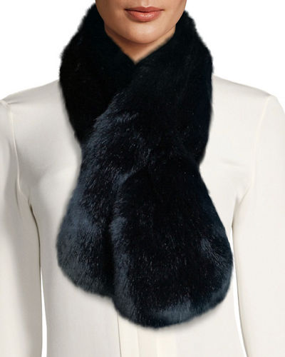 Fabulous Furs Faux-Fur Pull-Through Scarf