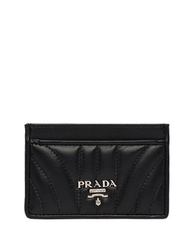Prada Impunture Quilted Leather Card Case