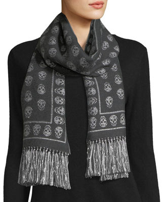 Image 1 of 2: Upside Down Skull Scarf
