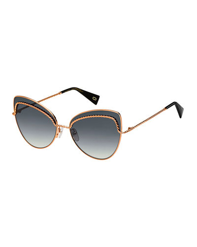 Marc Jacobs Metal Twist Cat-Eye Sunglasses