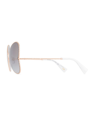 Metal Twist Heart Sunglasses