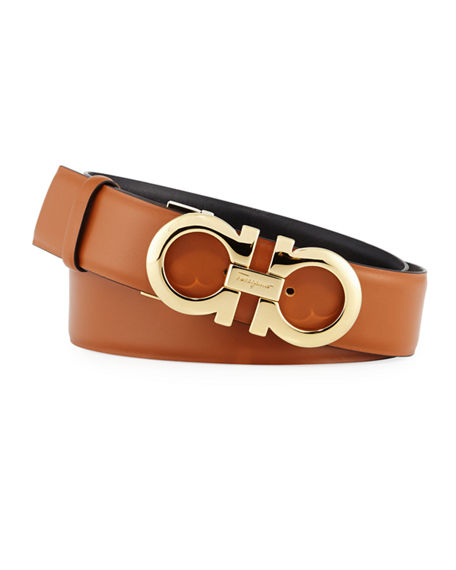 Salvatore Ferragamo Gancini-Buckle Reversible Leather Belt