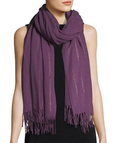 cashmere floral embroidered scarf - Black Cashmere in Love paIH10T9