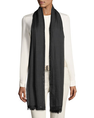 Loro Piana Stola Allure Sequin Trim Scarf