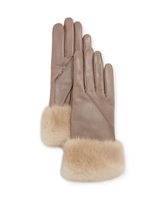 Mario Portolano Napa Leather Gloves w/ Mink Fur
