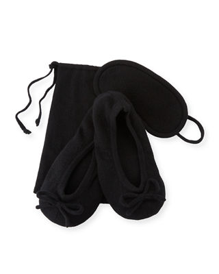 Cashmere Travel Set w/ Drawstring Pouch
