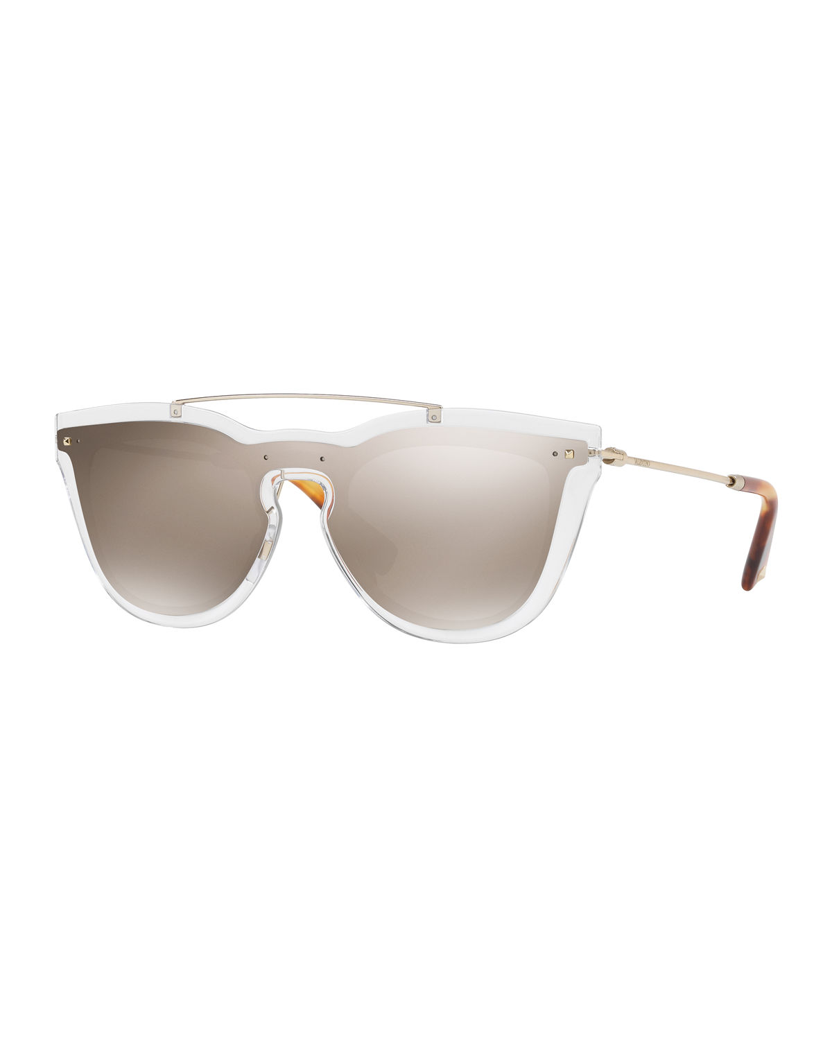 Glamgloss Mirrored Shield Sunglasses