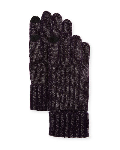 Lurex® Knit Touch-Screen Gloves