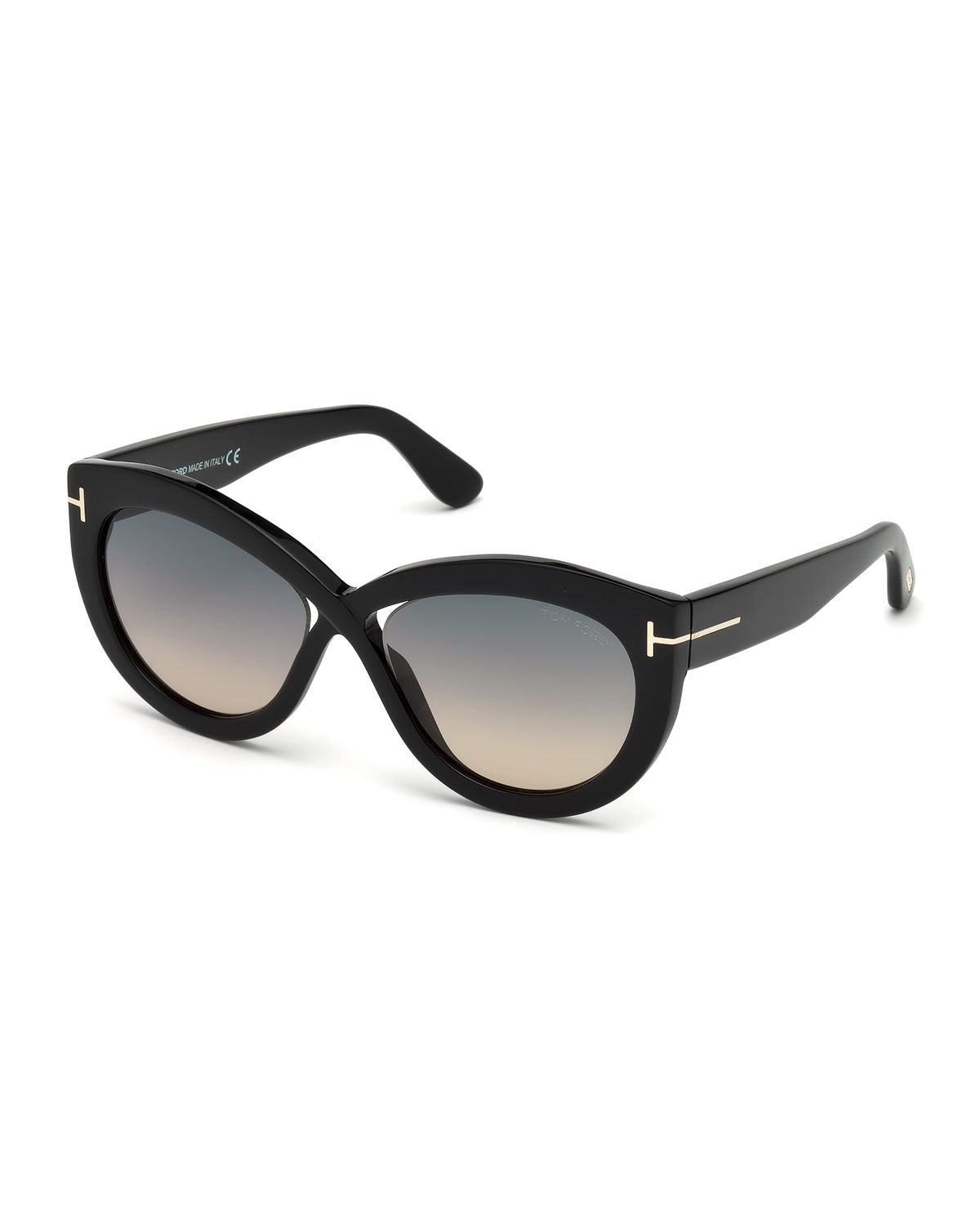 5fd073f990 TOM FORD Diane Transparent Acetate Butterfly Sunglasses