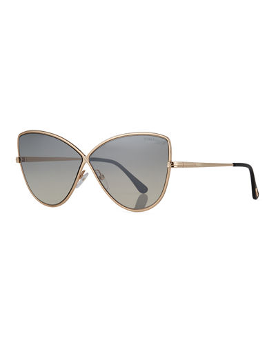 TOM FORD Elise Gradient Cross-Bridge Sunglasses