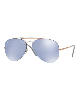 BLAZE AVIATOR 0RB3584N 905130 61MM SILVER AVIATOR SUNGLASSES