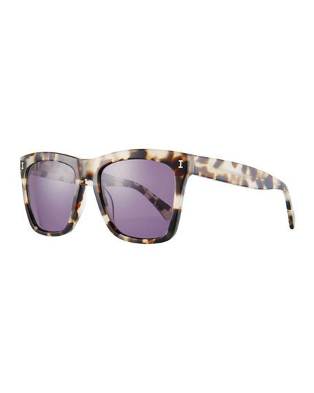 Illesteva Square Monochromatic Sunglasses