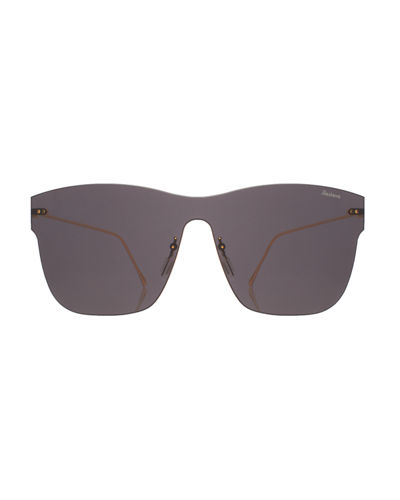 Square Rimless Steel Sunglasses