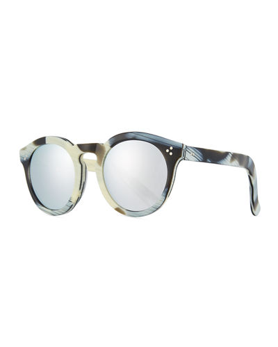 66835cb680c Quick Look. Illesteva · Patterned Round Monochromatic Sunglasses