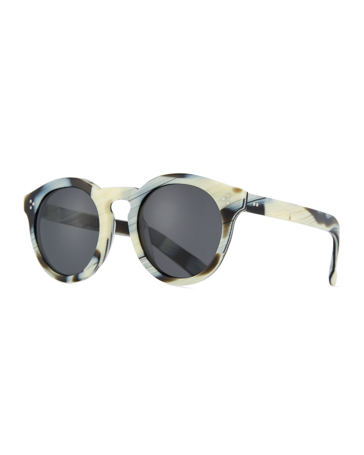 Patterned Round Monochromatic Sunglasses