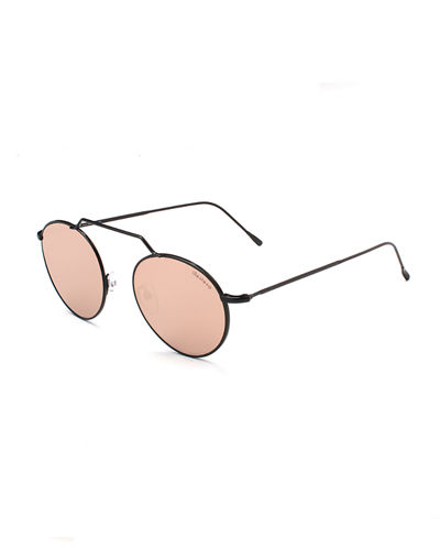 4aafdddf6e4 Quick Look. Illesteva · Round Geometric Bar Mirrored Sunglasses
