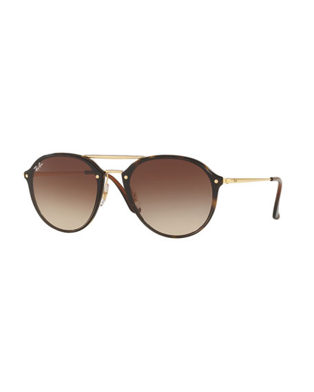 Ray-Ban Round Gradient Mirrored Sunglasses