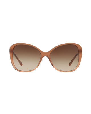 Image 2 of 2: Gradient Check Square Butterfly Sunglasses