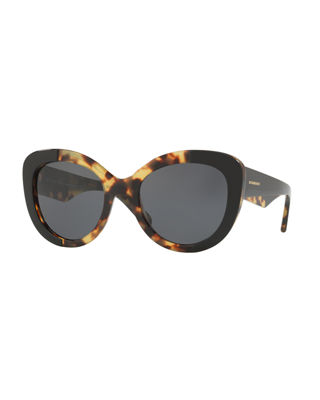 Image 1 of 2: Two-Tone Butterfly Acetate Sunglasses