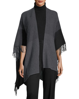 Hazy Colorblock Wool Serape