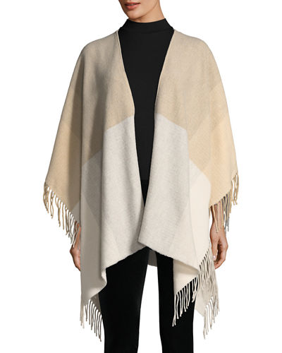 Eileen Fisher Hazy Colorblock Wool Serape