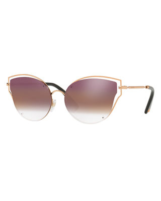 Cut-Out Metal Butterfly Sunglasses