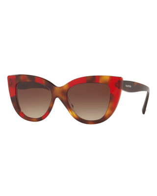 Valentino Acetate Cat-Eye Sunglasses