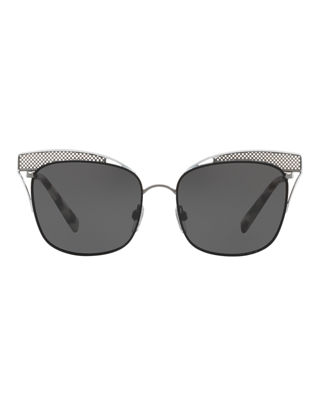 Image 2 of 2: Peaked Square Metal Sunglasses