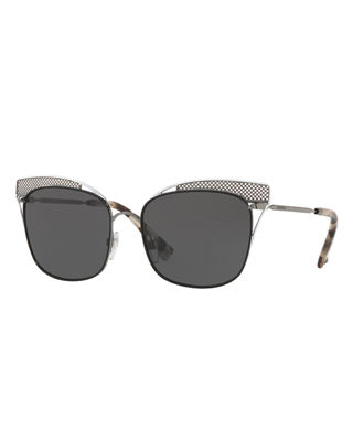 Image 1 of 2: Peaked Square Metal Sunglasses