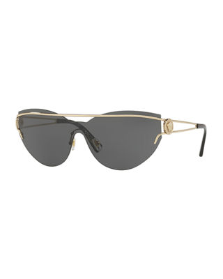 Rimless Cat-Eye Open-Temple Sunglasses